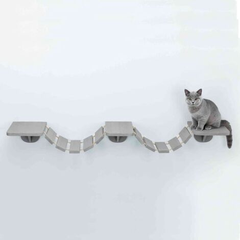 """main image of """"TRIXIE Wall-mounted Cat Climbing Ladder 150x30 cm Taupe - Grey"""""""
