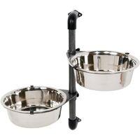 TRIXIE Wall-mounted Dog Bowl Set 2x2.8 L 25005