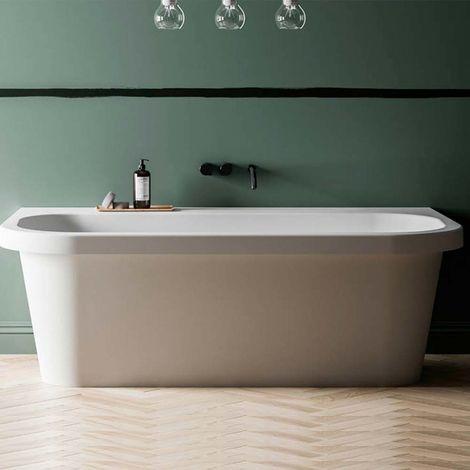 Trocadero vasca da bagno freestanding 170 x 87 x 57 in BluStone colore bianco