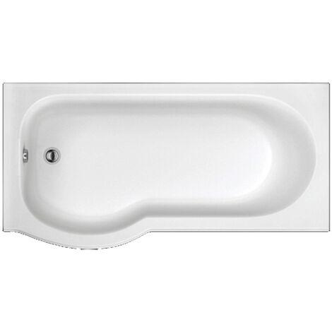 Trojan Concert P-Shaped Shower Bath 1675mm x 750mm/850mm Left Handed - No Tap Hole