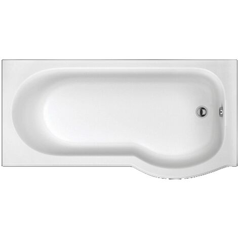 Trojan Concert P-Shaped Shower Bath 1675mm x 750mm/850mm Right Handed - No Tap Hole
