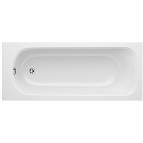 Trojan Derwent Rectangular Single Ended Bath 1600mm x 700mm - No Tap Hole