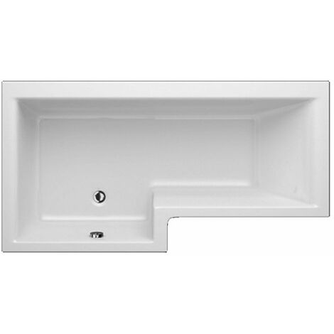 Trojan Elite L-Shaped Shower Bath 1675mm x 700mm/850mm Left Handed - No Tap Hole