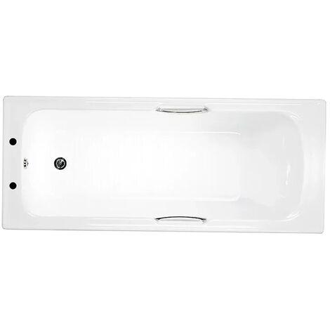 Trojan Granada Single Ended Rectangular Bath with Twin Grips 1700mm x 700mm - 5mm