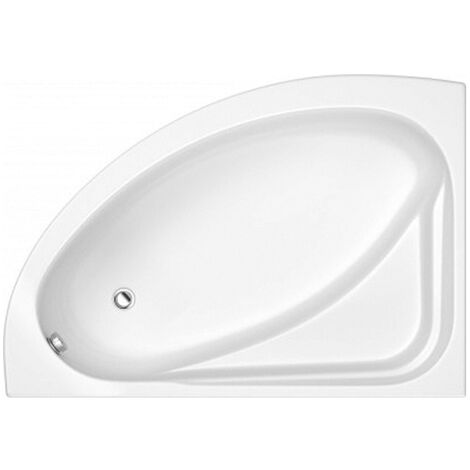 Trojan Orlando Offset Corner Bath 1500mm x 1020mm Left Handed - No Tap Hole