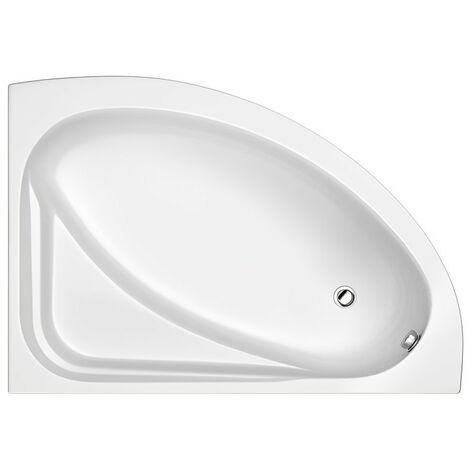 Trojan Orlando Offset Corner Bath 1500mm x 1020mm Right Handed - No Tap Hole
