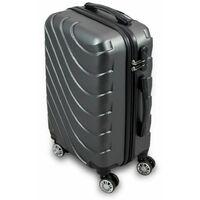 Trolley Hartschalen Koffer Hartschalenkoffer Hardcase Größe M - Modell Wave 2018 (Grau)