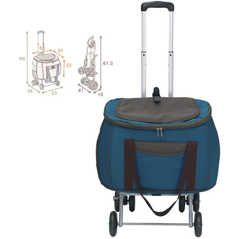 Trolley poussette pour chiens et chats Modèle chariot de voyage