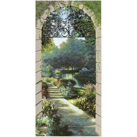 Trompe loeil Entrada al jardín cm 96x200 demart PR1-96x200