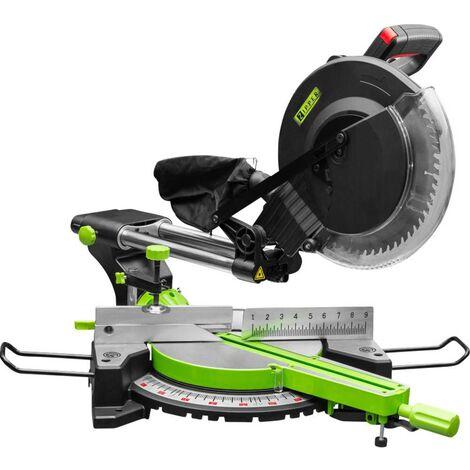 Troncatrice e sega per tagli obliqui con funzione di trazione Zipper ZI-KGS305UK 305 mm 2.0 kW