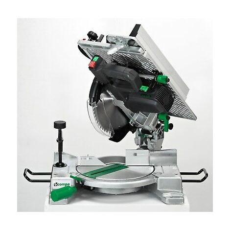 Troncatrice Per Legno 1600 Watt Falegnameria Compa Silver Green 250 Evolution