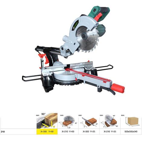 Troncatrice radiale COMPA taglio legno 300x60mm lama 210mm sega circolare 1200W