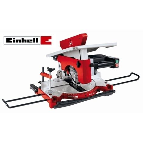 Troncatrice/Sega circolare per legno 1200W 210mm con piano superiore Einhell - TH-MS 2112 T