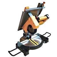 Troncatrice/Sega circolare per legno 1200W 210mm con piano superiore Kippen
