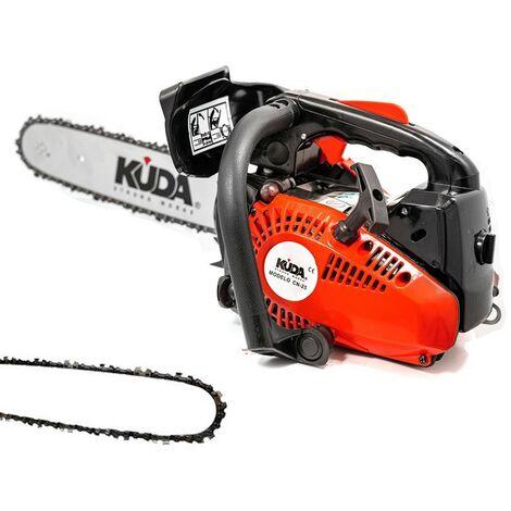 Tronçonneuse à essence KUDA 25,4 cc 1,29cv une chaine extras et guide de 30cm