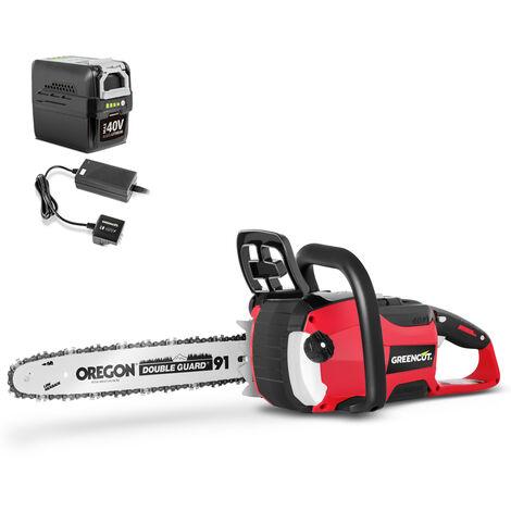 Tronçonneuse de batterie 40V + Batterie 4Ah + Chargeur -GREENCUT
