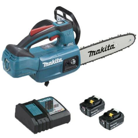 Tronçonneuse d'élagage brushless MAKITA 18V - 2 batteries 5.0Ah - 1 chargeur rapide DC18RC DUC254RT2
