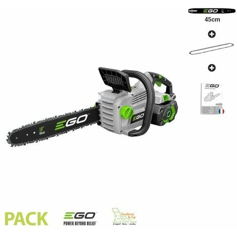 Tronconneuse electrique 1800W à batterie guide Oregon 45 cm Ego Power+ CS1800E - Gris