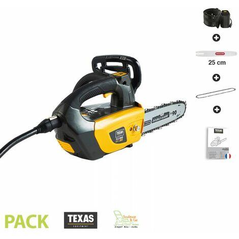 Tronçonneuse électrique à batterie 1500 W guide Oregon chaine 25 cm Texas TCZ 5800 sans chargeur ni batterie