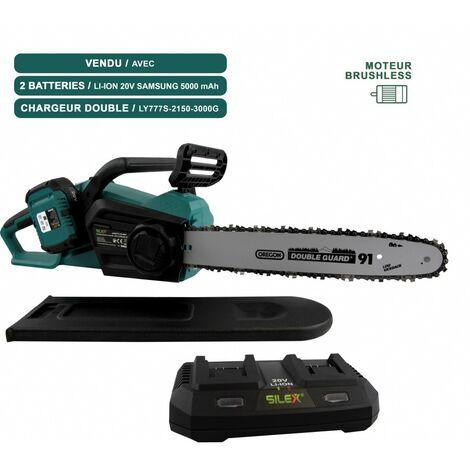 Tronçonneuse sans fil à batterie 40V SLX ® + chargeur + 2 batteries 5ah SAMSUNG - moteur Brushless - guide /chaîne Oregon 35 cm