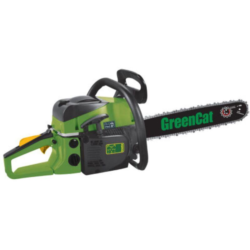 Green Cat - Tronconneuse Thermique 52 Cm3 Lame 50cm 2T 1.2 CV 1.7 KW GREENCAT CARBURATEUR WALBRO
