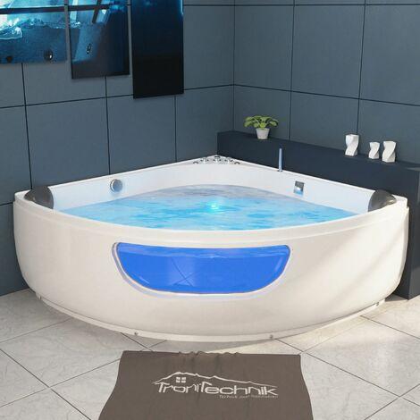 TroniTechnik Badewanne Whirlpool PAROS 150cm x 150cm mit Spülfunktion