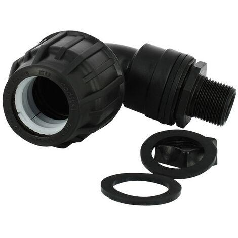 Trop-plein cuve eau 1000L - Coudé pression Diamètre 32 mm