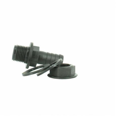 Trop-plein cuve eau 1000L - Embout droit Diamètre 15 mm