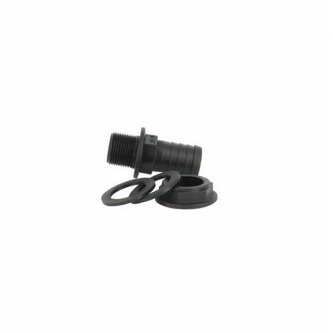 Trop-plein cuve eau 1000L - Embout droit Diamètre 25 mm