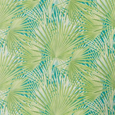 Tropical Palm Tree Wallpaper Exotic Print Smooth Vinyl Green & Teal Floral Rasch