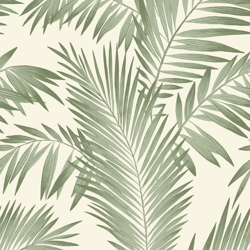 Tropical Palm Tree White Green Wallpaper Leaves Leaf
