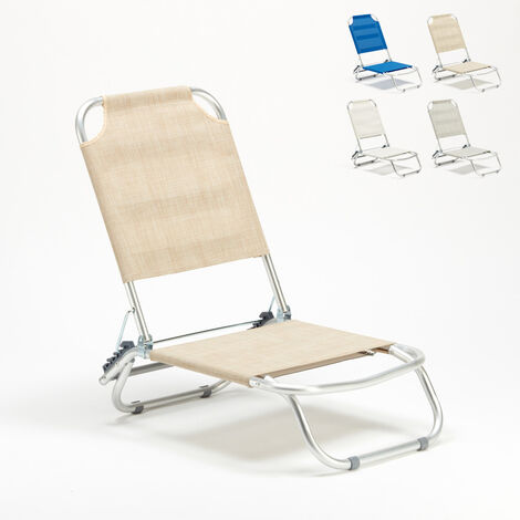 TROPICAL Portable Deck Chair For Beach & Camping | Cream