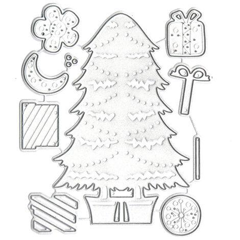 Troqueles de corte de metal de Navidad, troqueles de corte, para ninos DIY,116x96mm,arbol