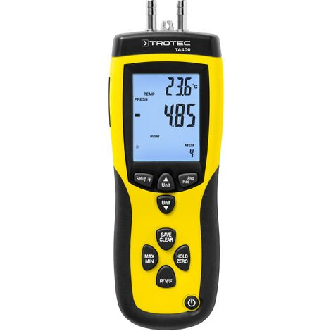 TROTEC Anemometer TA400 Staurohr inkl. Kalibrier-Zertifikat