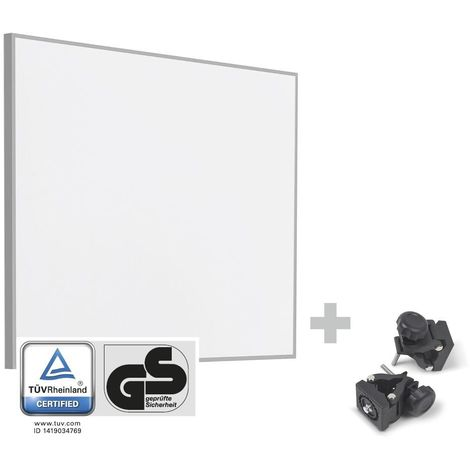 TROTEC Infrarot-Heizplatte / Infrarotheizung TIH 300 S + Befestigungsklammern