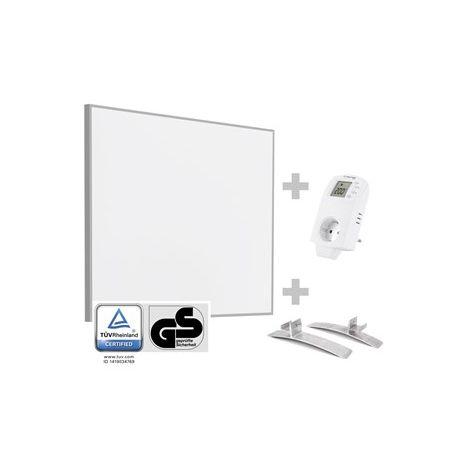 TROTEC Panel calefactor infrarrojo TIH 300 S + enchufe-termostato BN 30 y pie de soporte