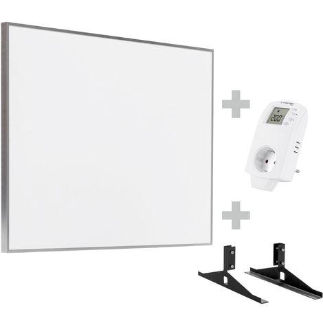 TROTEC Panel calefactor infrarrojo TIH 500 S + Enchufe-termostato BN 30 y pie de soporte
