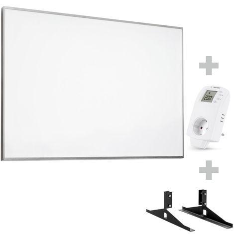 TROTEC Panel calefactor infrarrojo TIH 700 S + Enchufe-termostato BN 30 y pie de soporte