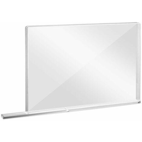 Trotec Pared protectora escolar de vidrio acrílico con borde protector de aerosol MEDIUM 1007 x 69 x 688