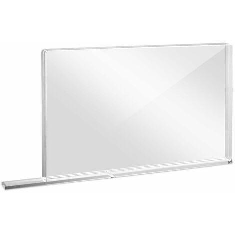 Trotec Pared protectora escolar de vidrio acrílico con borde protector de aerosol PEQUEÑO 800 x 69 X 500
