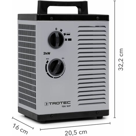 TROTEC Soplador calefactor de cerámica TDS 10 P