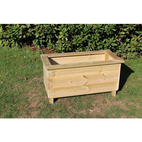 """main image of """"Trough Planters, wooden garden pot/tub for plants – FULLY ASSEMBLED"""""""