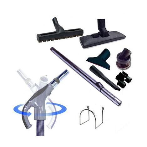 Trousse 8 accessoires + 1 flexible 9 m Universel toutes marques avec bouton marche/arrêt