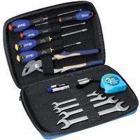 Trousse BOST Expert - 12 Outils : 4 Clés à fourche + 5 tournevis + 1 pince + 1 cutter + 1 mètre - 889310