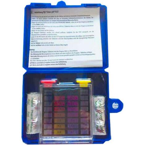 Trousse d'analyse MAREVA pastilles DPD pH et Chlore pour piscine - 204091