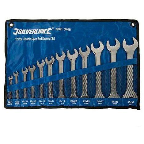 Trousse de 12 clés à fourche doubles 6 à 32 mm - 380681 - -