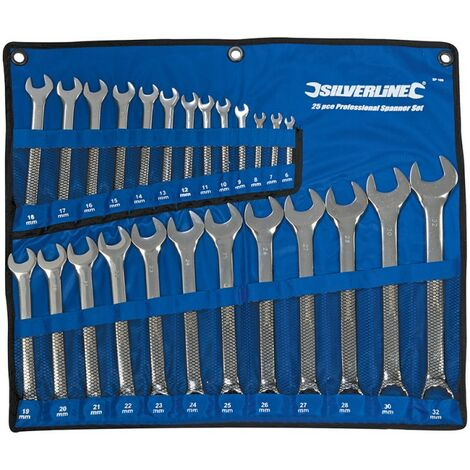 Silverline SP50 Jeu de 14 clés mixtes