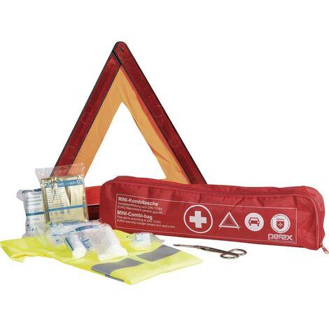 Trousse de premiers secours Malteser 43999712 avec gilet de sécurité, avec triangle de signalisation