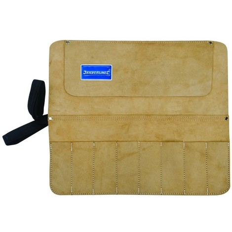 Trousse en daim pour burins et ciseaux à 8 poches 440 x 380 mm