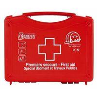 Trousse secours pleine polypro asep btp 10 rouge